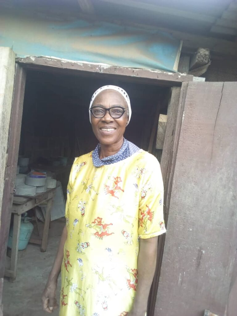 Female Nigerian Rabbit Farmer